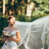 Букет невесты с лавандой в стиле рустик/прованс