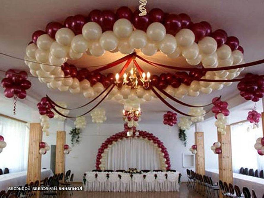 Фото украшения зала с шарами на свадьбу своими руками
