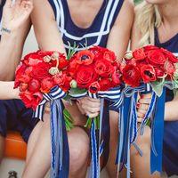 букет невесты с морском стиле