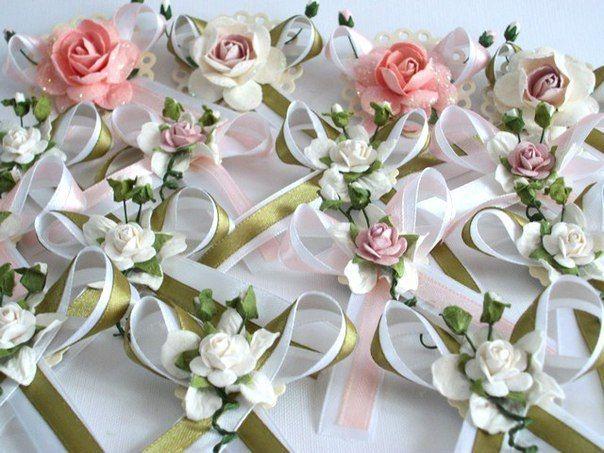 Цветы на свадьбу для гостей своими руками