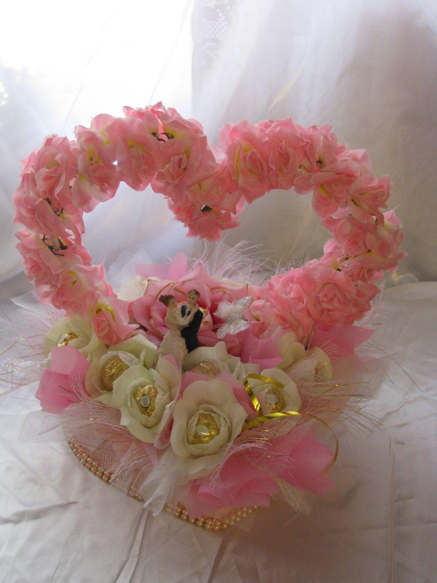 свадебное сердце конфетный подарок - фото 1450485 Sweet dream - букеты из конфет