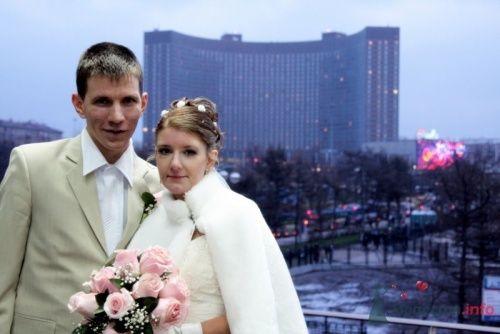 Фото 9828 в коллекции Зимняя свадьба Петра и Натальи