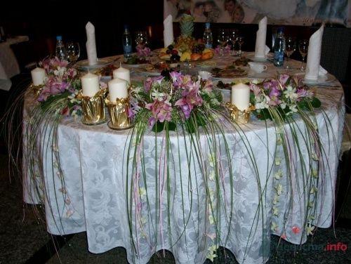 Оформление стола для молодоженов - фото 1094 Флорист-дизайнер Елена