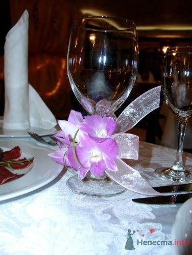 Оформление свадебных бокалов - фото 1103 Флорист-дизайнер Елена