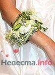 Флористический браслет на руку невесты - фото 1107 Флорист-дизайнер Елена