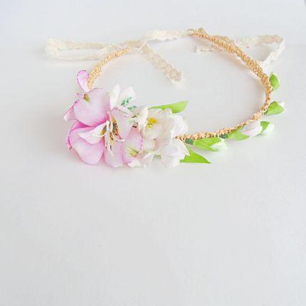 Свадебный венок для головы с цветами