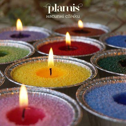 Цветной воск насыпных свечей