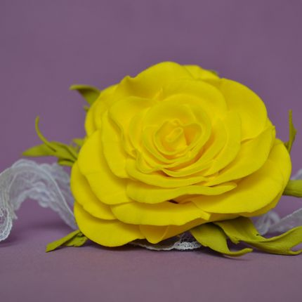 Браслет Желтая роза
