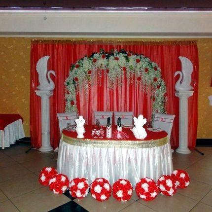 Оформление красной свадьбы