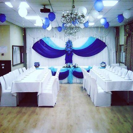 """Оформление зала """"Синяя свадьба"""""""