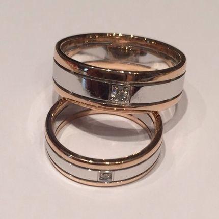 Арт008 Обручальные кольца (пара)