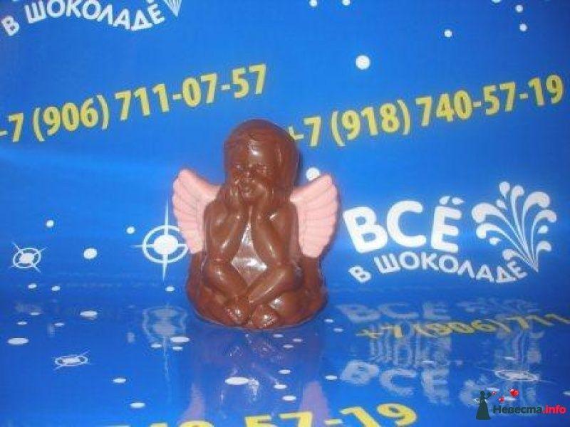 """шоколадная фигурка """"Ангелочек"""" - фото 459312 Компания """"Всё в шоколаде"""" - сладости на свадьбу"""