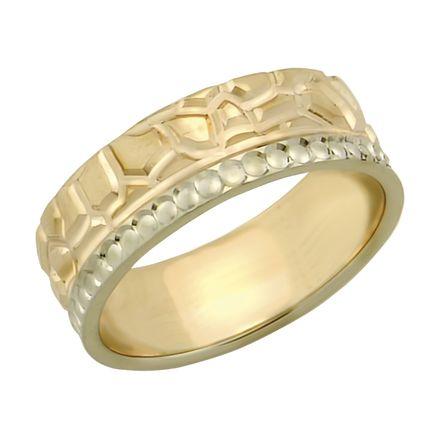 Обручальное кольцо двойное