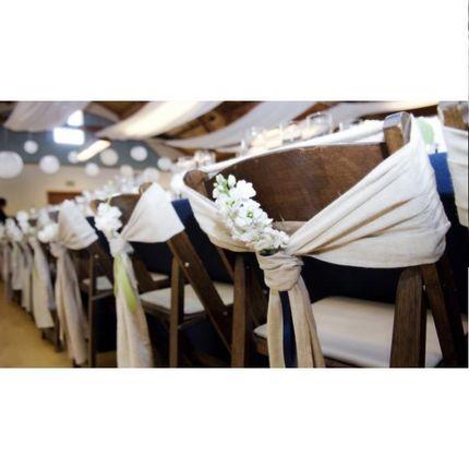 Свадебные украшения для стульев в стиле Прованс