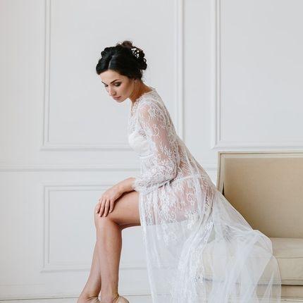 Будуарное платье Transparent trail white