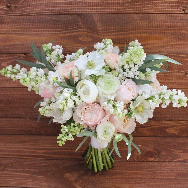 Букеты невесты ландыши и розы фото, оптом гортензия