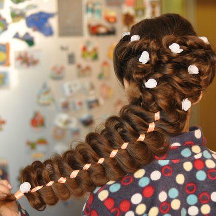 Причёски с косой, использование тресс, выезд на дом
