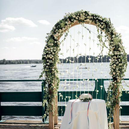 Свадебная арка и зона регистрации