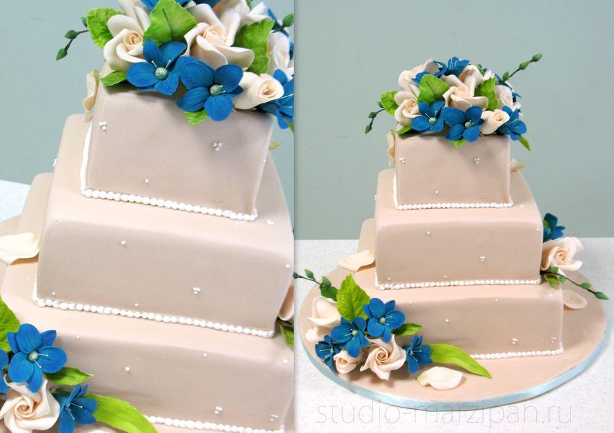 Торты с марципаном фото