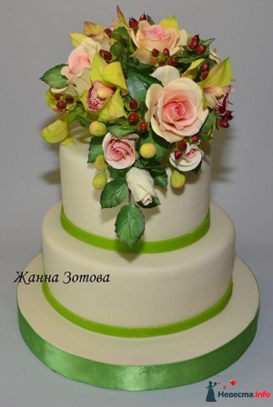 Свадебные фото торты букеты