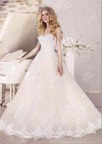 """Свадебное  платье  с  расшивкой  бисером.Цена  62800  рублей. - фото 11964542 Интернет-магазин свадебных платьев """"Fleur d'Orange"""""""