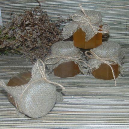 Медовая баночка-бонбоньерка с текстилем