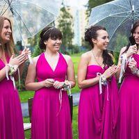 Подружки невесты в цвете фуксии