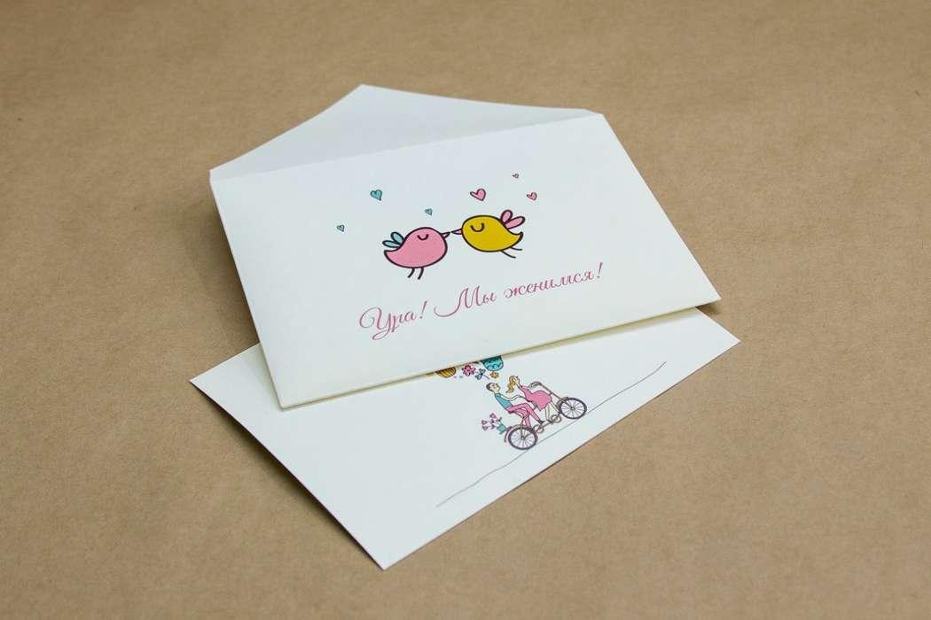 """О-КВ-14 конверт С6 и карточка с двусторонней запечаткой О-Кв-14_2 -бумага SplendorGel avorio  -  0,84 у.е - фото 12178046 Студия """"Печать"""" - полиграфия"""