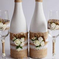Украшение 2 бутылок шампанского