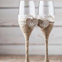 Бокалы на свадьбу молодоженов
