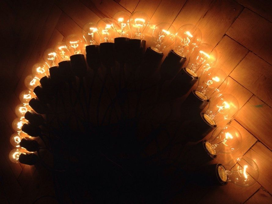 Ретро гирлянда 15 метров на 31 лампочку