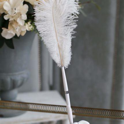 Ручка- перо для подписи Свадебные колокола