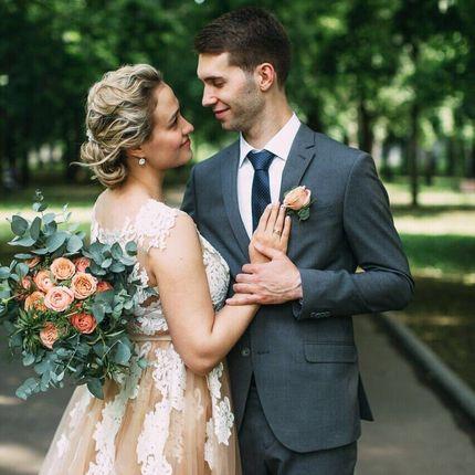 Букет невесты в стиле fresh cut