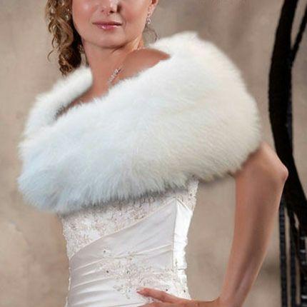 """Свадебная накидка """"Лебедь"""""""