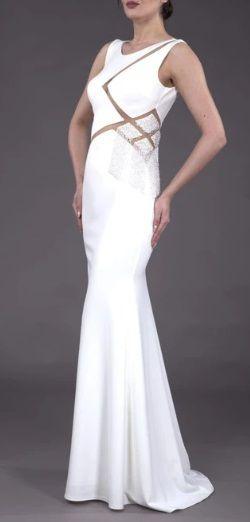 Прокат платья молочного цвета