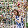 декор арки пасхальными яйцами (Киев, детская шк. искусств)