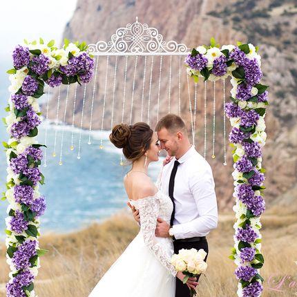 Оформление церемонии цветочной аркой