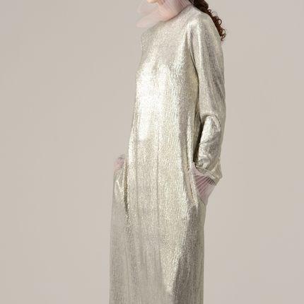 Вечернее платье Инара серебро