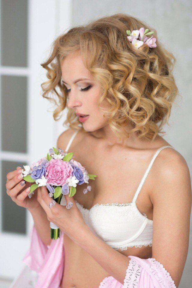 Фото 12977856 в коллекции Букет невесты из полимерной глины - Terracotta flowers - цветы из глины