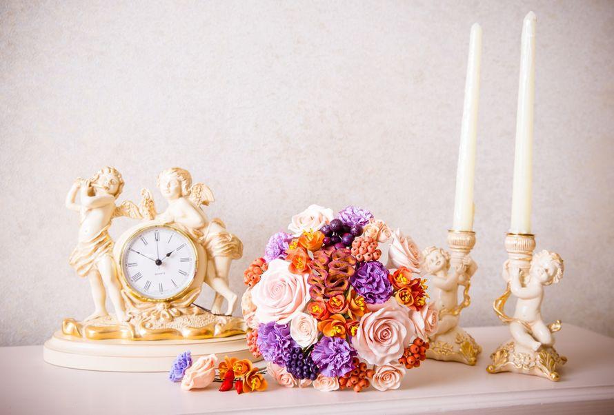 Букет невесты из полимерной глины. Очень легкий. Возможна любая палитра. - фото 12977922 Terracotta flowers - цветы из глины