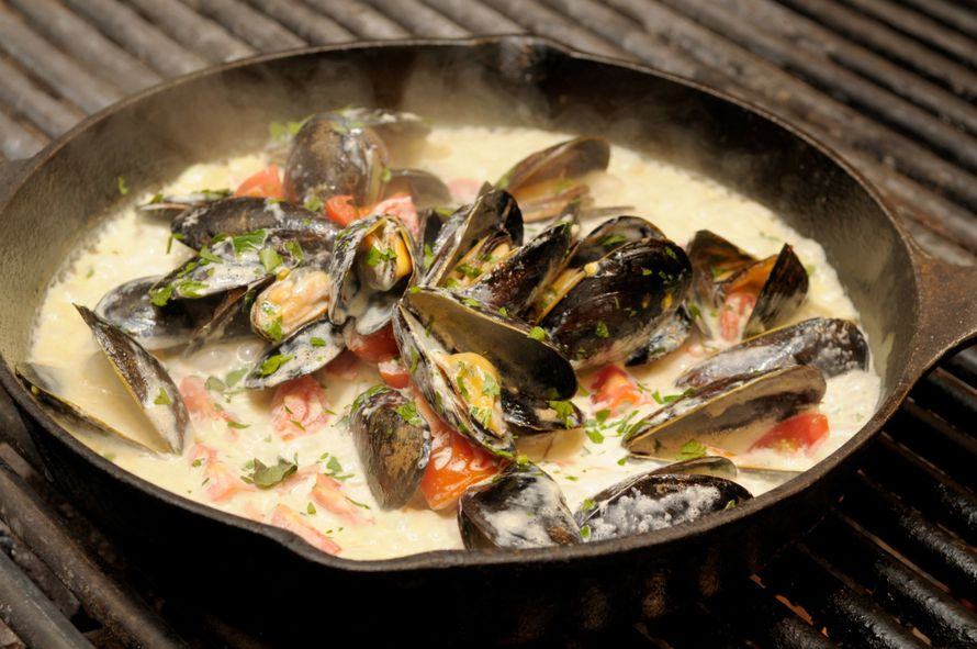 Рецепт приготовления мидий в раковинах с фото