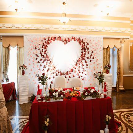 Оформление зала: декор, ткани, флористика