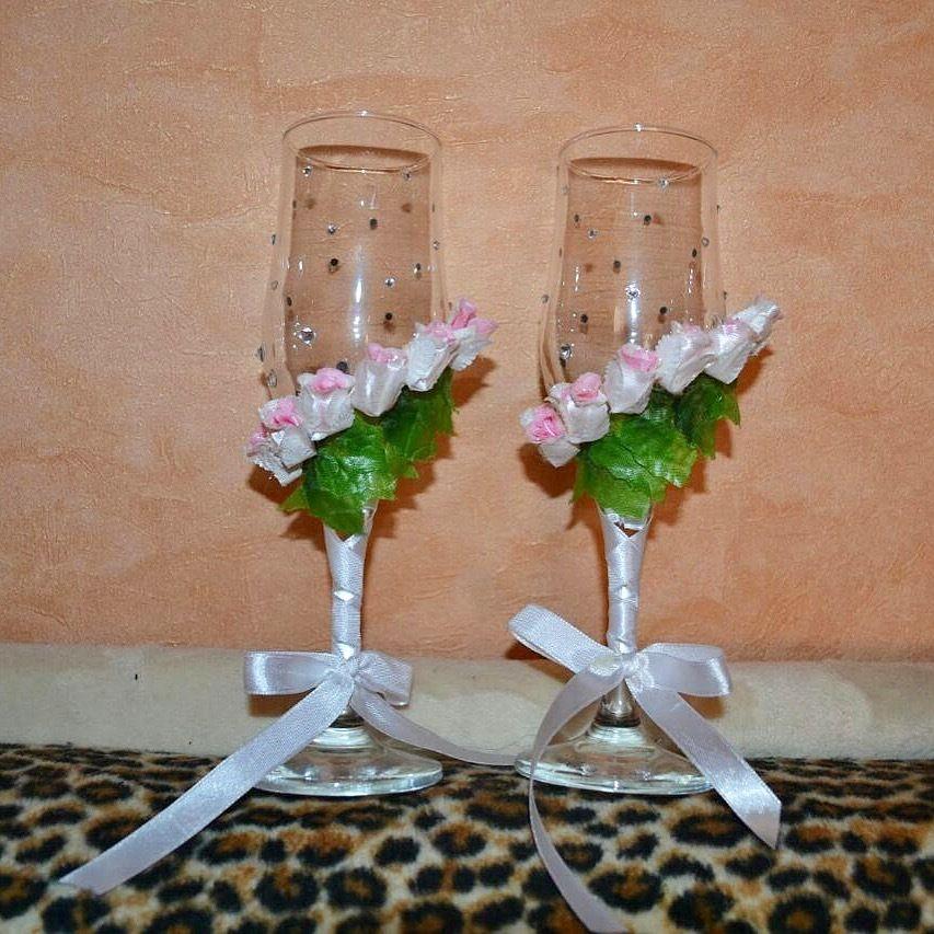 Фото 13440560 в коллекции Фужеры, свадебное шампанское, подушечка для колец, корзиночка - Оформители Wedding Decor73