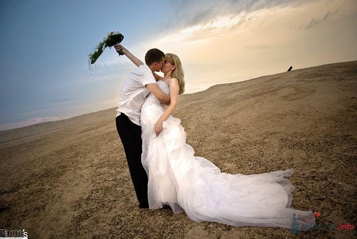 """Жених и невеста стоят, прислонившись друг к другу, посреди поля - фото 35120 Свадебное агентство """"Пятая Авеню"""""""