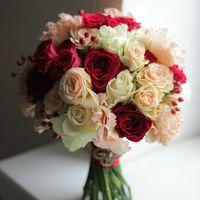 красный букет, красно-золотая свадьба