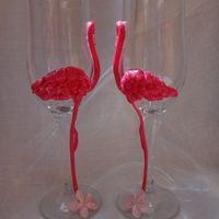 Прекрасные фламинго в другом ракурсе