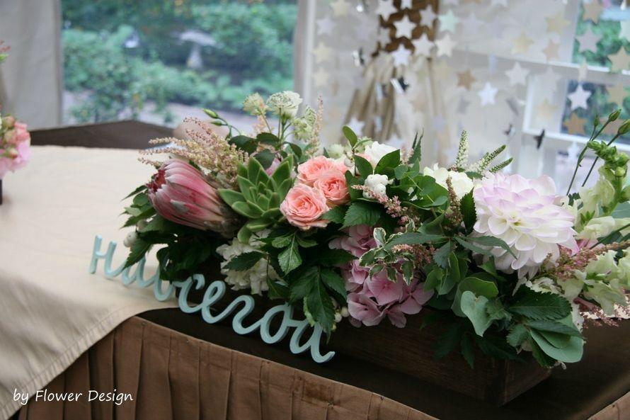 Декор стола жениха и невесты