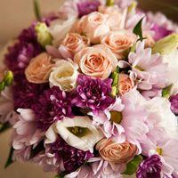 Букет невесты из астр, эустом и ромашек в розовых оттенках 21.04.2012