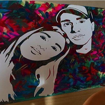 Арт шоу по созданию портрета, 50х70 см