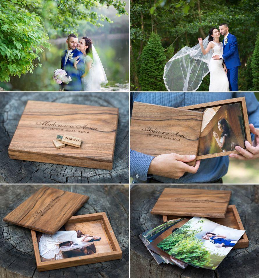 располагает собственной деревянный фотобокс для фотографий и флешки всем